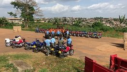 First initial motorcyclist training in Cameroon