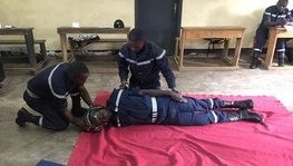 Training course in first aid tutoring for 15 firefighters