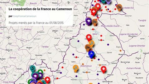 Interactive map of cooperation projects supported by France in (...)